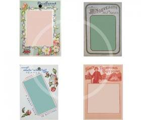 Printable Vintage Button Cards